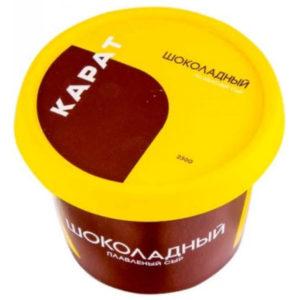 """Плавленый сыр """"Карат"""" Шоколадно-ореховый"""