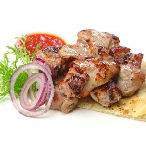 Шашлык из свинины жареный