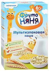 ФрутоНяня Каша мультизлаковая молочная 200г