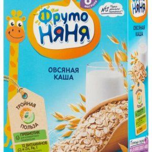 ФрутоНяня Каша овсяная молочная б/сахара 200г