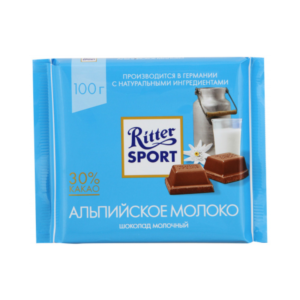 """Шоколад """"Риттер Спорт""""  альпийское молоко"""