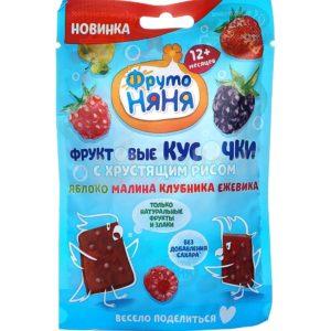 ФрутоНяня Фруктовые кусочки Ябл/малина/клубника/ежевика 42г