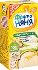 ФрутоНяня Крем-суп овощной цветная капуста/кабачок/картофель 0,2л