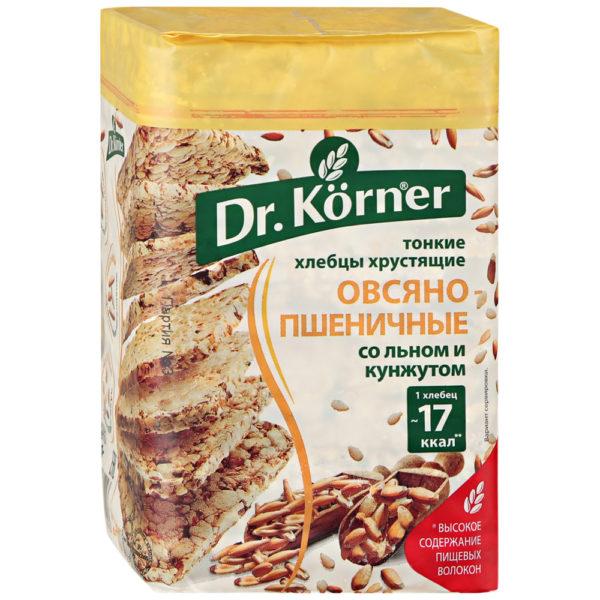 """Хлебцы """"Dr.Korner"""" 100г квадрат лен/кунжут"""