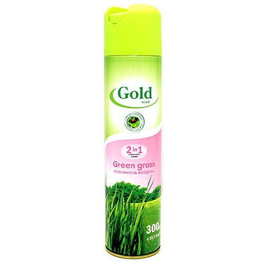 "Освежитель воздуха ""GOLD Wind"" Green Grass 300мл"
