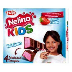 Шоколад Нелино Кидс молочный/клубника 50г