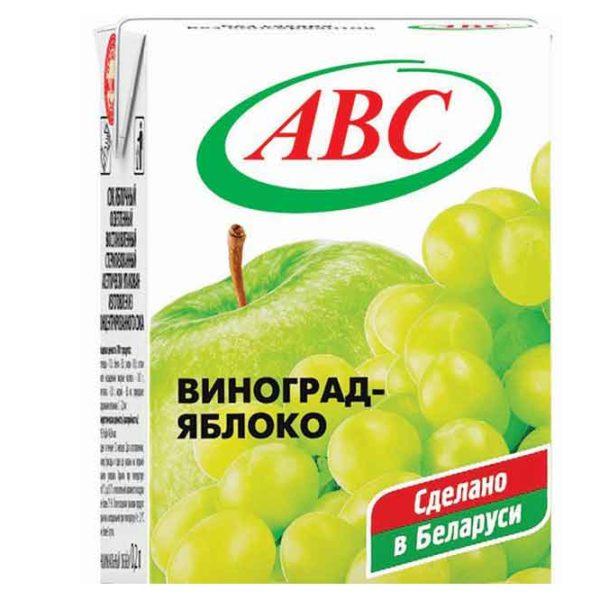 """Нектар """"АВС"""" Яблоко/виноград 0,2л"""