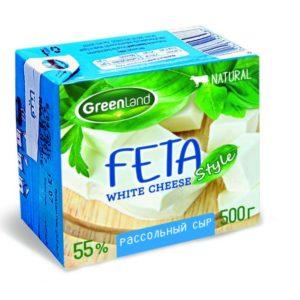 """Сыр """"GreenLand"""" Фета 500г из коровьего и буйволиного молока"""
