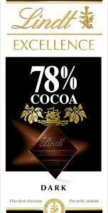 """Шоколад """"Линдт Экселленс"""" Горький 78% 100г"""