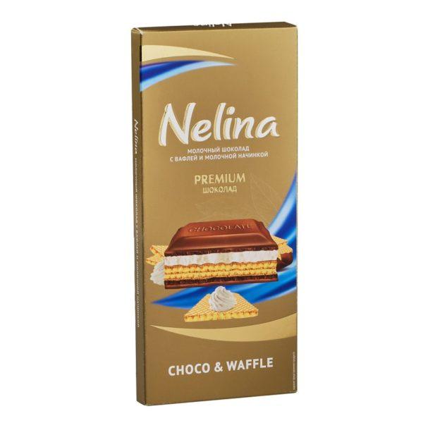 Шоколад Нелино молочный/вафля 190г