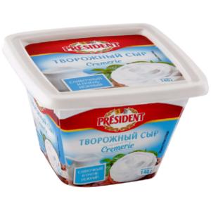 """Творожный сыр """"Президент"""" 140г Сливочный"""