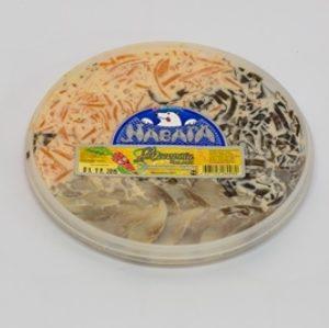 Ассорти салат из сельди со свеклой и морковью в майонезе 200г