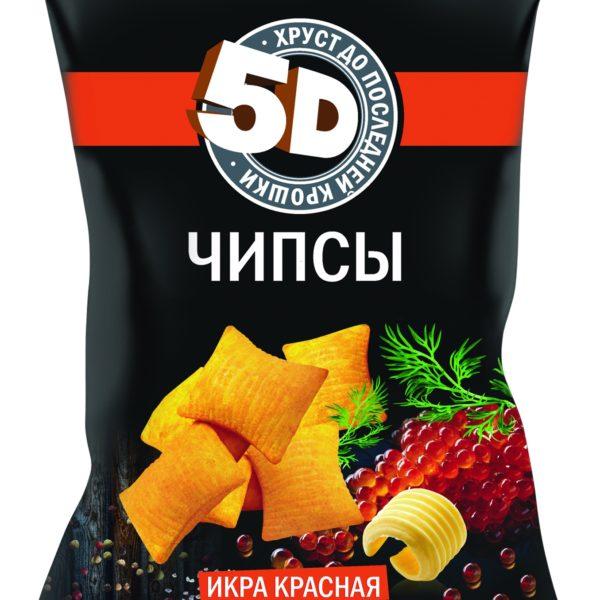 """Чипсы """"5 D"""" Красная икра 90г"""