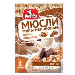 """Мюсли """"Престон"""" Орехи/шоколад 40г"""