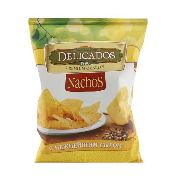 """Чипсы кукурузные """"Delicados"""" Начос 150г Нежнейший сыр"""