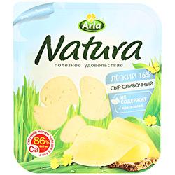 "Сыр ""Natura"" сливочный 150г нарезка Арла"