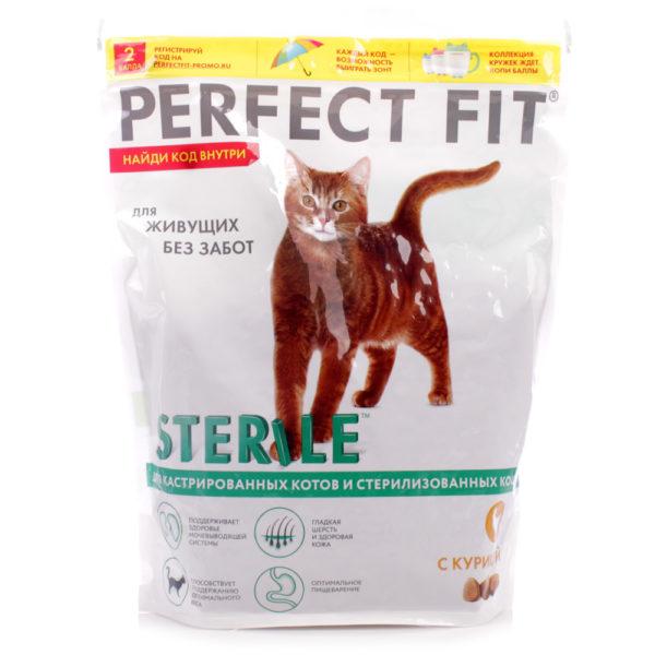 ПерфектФит для стерилизованных котов и кошек Курица 650г