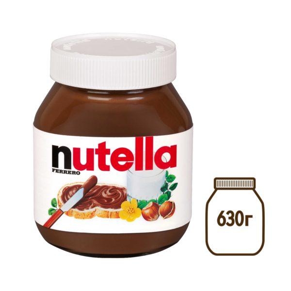 "Паста ореховая с какао ""Нутелла"" 630г"