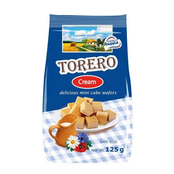 """Вафли """"Тореро"""" Шоколадные сливки 125г"""