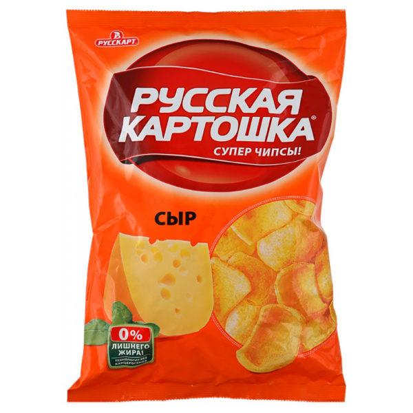 """Чипсы """"Русская картошка"""" 80г сыр"""