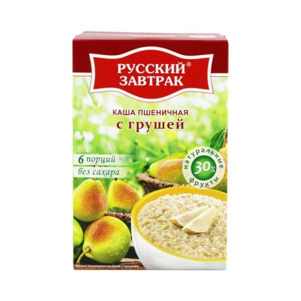 Русский Завтрак каша пшеничная с грушей 240г