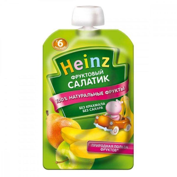 Хайнц Пюре фруктовый салатик  100г