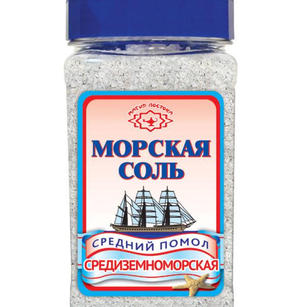 """Соль морская """"Магия Востока"""" средний помол 410г"""