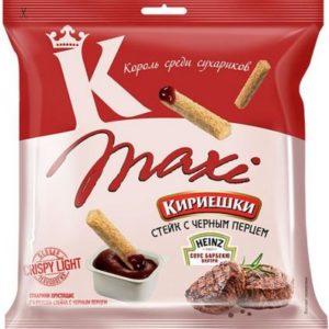 """Сухарики """"Кириешки"""" MAXI стейк/чёрный перец+томатный соус 50г."""