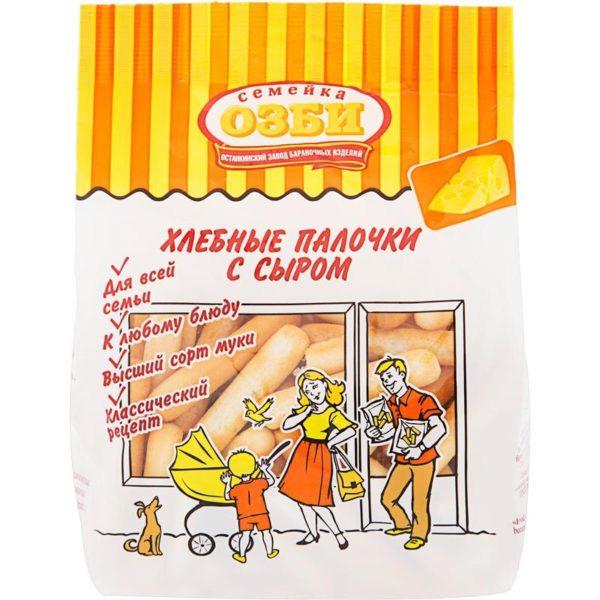 """Хлебные палочки """"Семейка Озби"""" сыр 150г"""