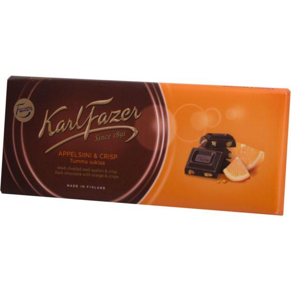 """Шоколад """"Fazer"""" Тёмный с апельсином 200г"""