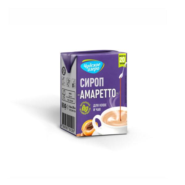 """Сироп """"Чудское озеро"""" для кофе и чая Амаретто 200мл"""