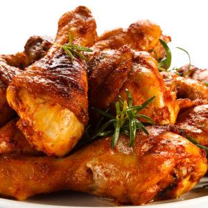 Голень куриная в маринаде жареная